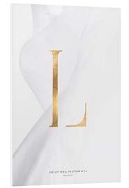 Foam board print  GOLD LETTER COLLECTION L - Stephanie Wünsche