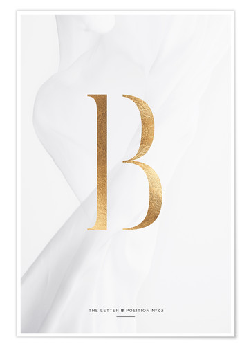 Premium poster GOLD LETTER COLLECTION B