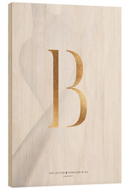 Wood  GOLD LETTER COLLECTION B - Stephanie Wünsche