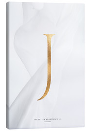 Canvas print  GOLD LETTER COLLECTION J - Stephanie Wünsche
