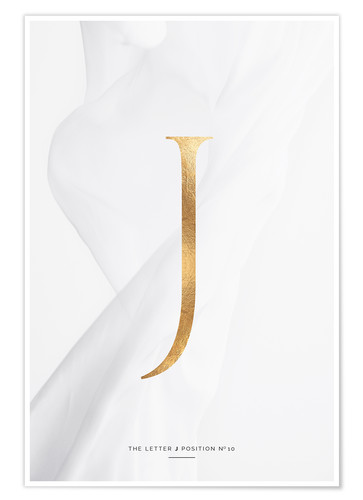 Premium poster GOLD LETTER COLLECTION J