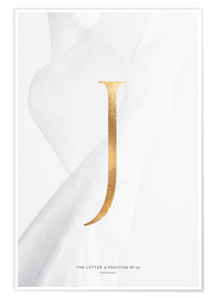 Premium poster  GOLD LETTER COLLECTION J - Stephanie Wünsche