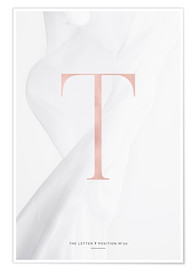 Premium poster ROSEGOLD LETTER COLLECTION T