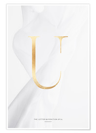 Premium poster GOLD LETTER COLLECTION U