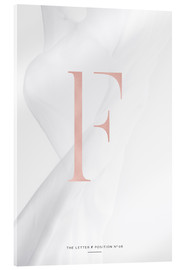 Acrylic print  ROSEGOLD LETTER COLLECTION F - Stephanie Wünsche