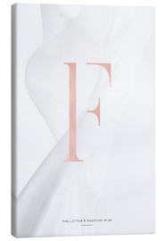 Canvas  ROSEGOLD LETTER COLLECTION F - Stephanie Wünsche