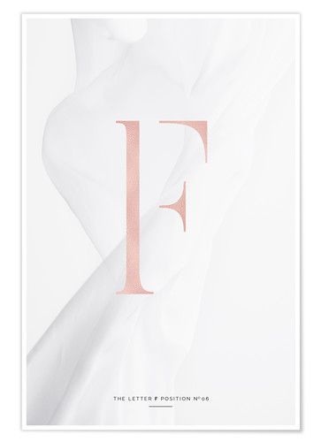 Premium poster ROSEGOLD LETTER COLLECTION F