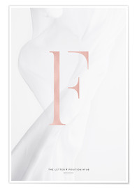 Poster  ROSEGOLD LETTER COLLECTION F - Stephanie Wünsche