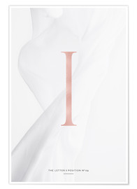 Premium poster ROSEGOLD LETTER COLLECTION I