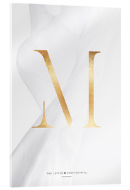 Acrylic glass  GOLD LETTER COLLECTION M - Stephanie Wünsche