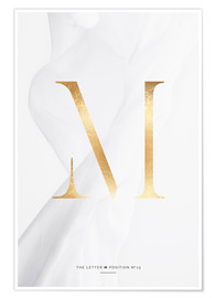 Premium poster GOLD LETTER COLLECTION M
