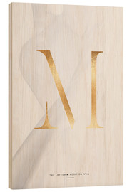 Wood print  GOLD LETTER COLLECTION M - Stephanie Wünsche