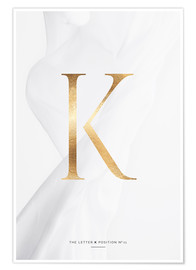 Premium poster GOLD LETTER COLLECTION K