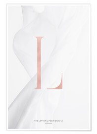 Premium poster  ROSEGOLD LETTER COLLECTION L - Stephanie Wünsche