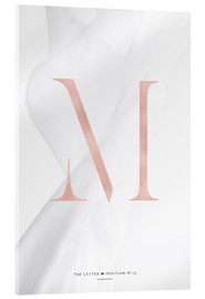 Acrylic print  ROSEGOLD LETTER COLLECTION M - Stephanie Wünsche