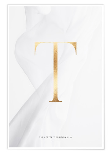 Premium poster GOLD LETTER COLLECTION T