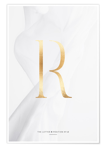 Premium poster GOLD LETTER COLLECTION R