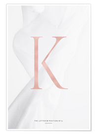Premium poster  ROSEGOLD LETTER COLLECTION K - Stephanie Wünsche