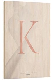 Wood  ROSEGOLD LETTER COLLECTION K - Stephanie Wünsche