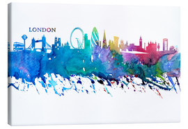 M. Bleichner - Skyline LONDON Colorful Silhouette
