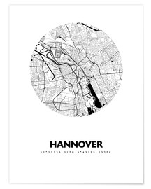 Poster  City map of Hannover - 44spaces