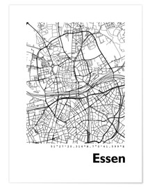 Premium poster City map of Essen