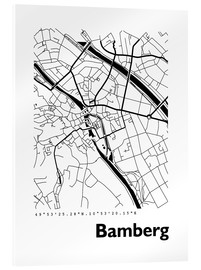 Acrylic print  City map of Bamberg - 44spaces