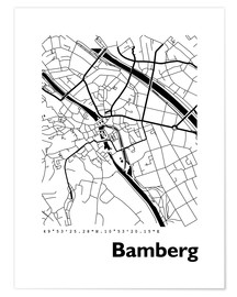 Premium poster City map of Bamberg