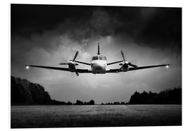 Foam board print  Small airplane low flyby - Johan Swanepoel