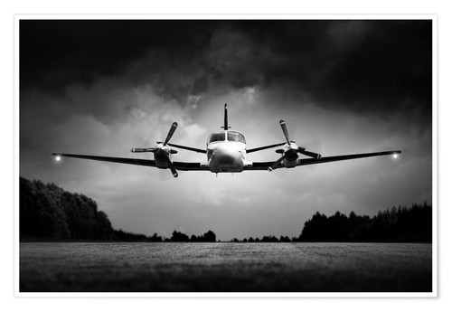 Premium poster Small airplane low flyby