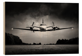 Wood print  Small airplane low flyby - Johan Swanepoel