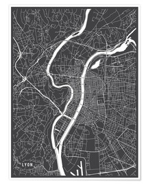Main Street Maps - Lyon France Map