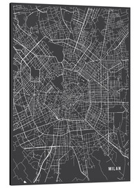 Main Street Maps - Milan Italy Map