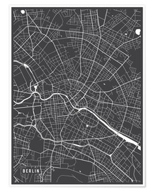 Premium poster  Berlin Germany Map - Main Street Maps