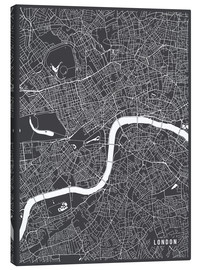 Canvas print  London England Map - Main Street Maps
