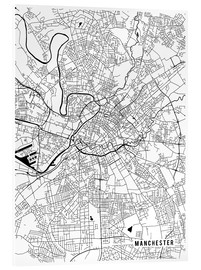 Acrylic print  Manchester England Map - Main Street Maps