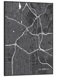 Aluminium print  Los Angeles USA Map - Main Street Maps