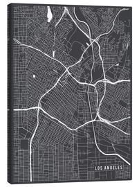 Canvas print  Los Angeles USA Map - Main Street Maps