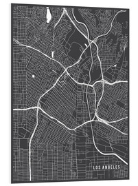 Foam board print  Los Angeles USA Map - Main Street Maps