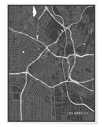 Premium poster Los Angeles USA Map