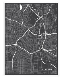 Premium poster  Los Angeles USA Map - Main Street Maps