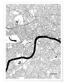Premium poster London England Map