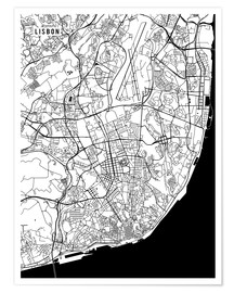 Main Street Maps - Lisbon Portugal Map
