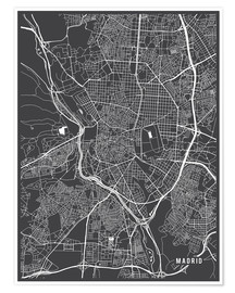 Premium poster  Madrid map - Main Street Maps