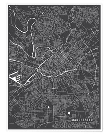 Main Street Maps - Manchester England Map