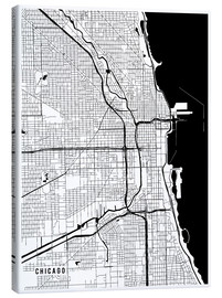 Canvas  Chicago USA Map - Main Street Maps
