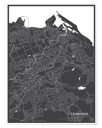 Premium poster Edinburgh, Scotland Map