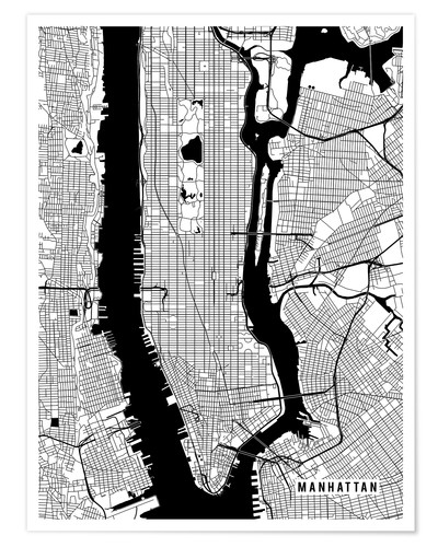 Premium poster New York USA Map