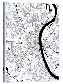 Canvas print  Cologne Germany Map - Main Street Maps
