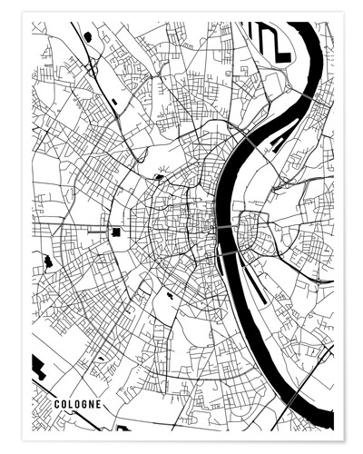 Premium poster Cologne Germany Map